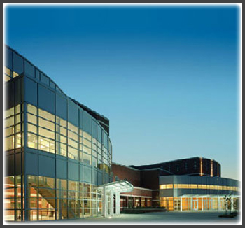 New 333,000 square foot, $34 million school accomodating 2,338 students using seperate but easily secured quadrants containing the main lobby and auditorium, science and technology, recreation and a 3-story classroom space.